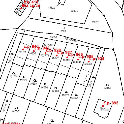Katastrální mapa Stavební objekt Bučovice 926, Bučovice