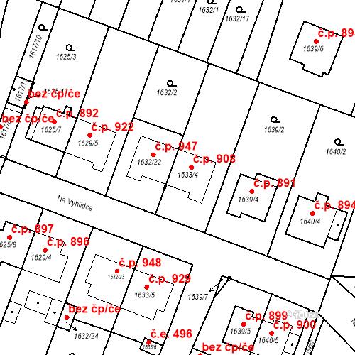 Katastrální mapa Stavební objekt Bučovice 908, Bučovice