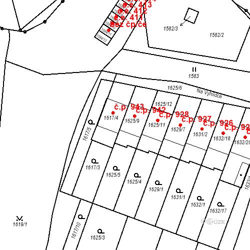 Katastrální mapa Stavební objekt Bučovice 942, Bučovice