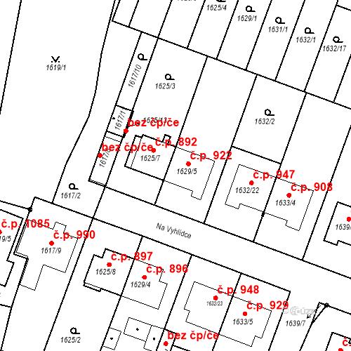 Katastrální mapa Stavební objekt Bučovice 922, Bučovice