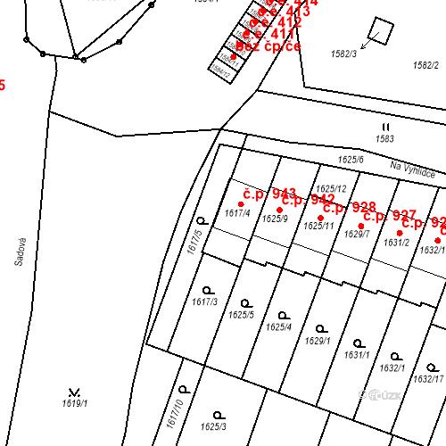 Katastrální mapa Stavební objekt Bučovice 943, Bučovice