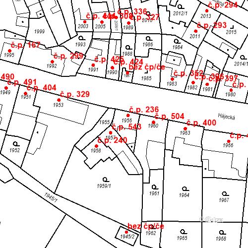Katastrální mapa Stavební objekt Bučovice 236, Bučovice