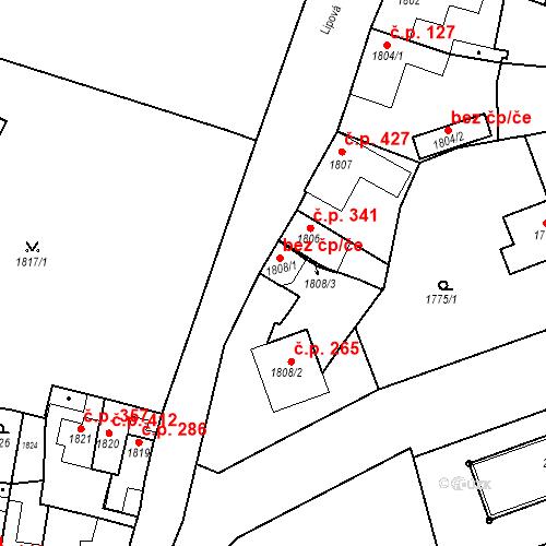 Katastrální mapa Stavební objekt Bučovice 257, Bučovice