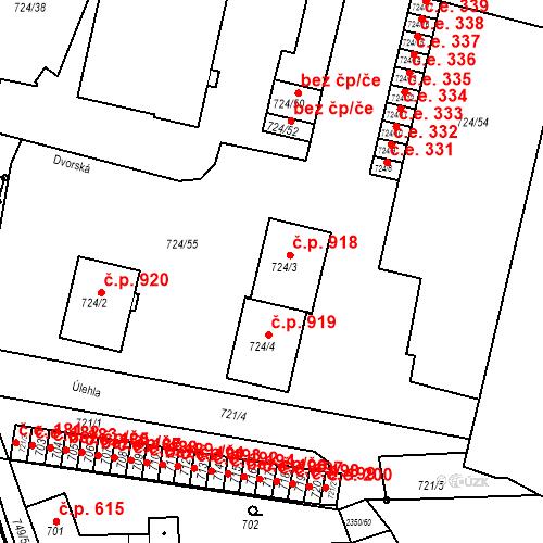 Katastrální mapa Stavební objekt Bučovice 918, Bučovice