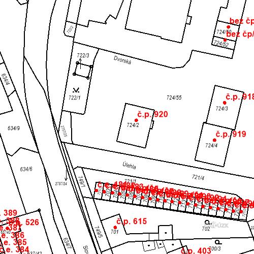 Katastrální mapa Stavební objekt Bučovice 920, Bučovice