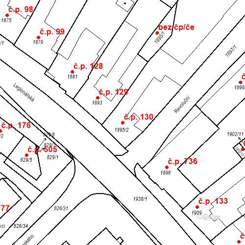 Katastrální mapa Stavební objekt Bučovice 130, Bučovice