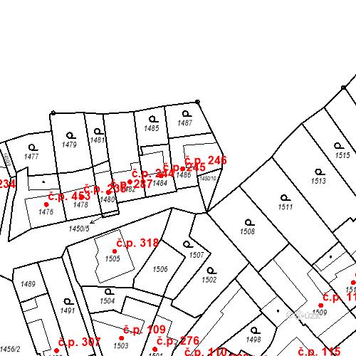 Katastrální mapa Stavební objekt Bučovice 246, Bučovice
