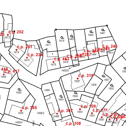 Katastrální mapa Stavební objekt Bučovice 235, Bučovice