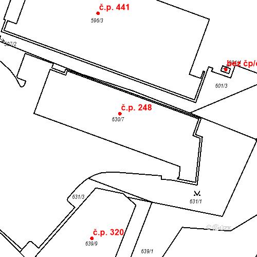 Katastrální mapa Stavební objekt Bučovice 248, Bučovice