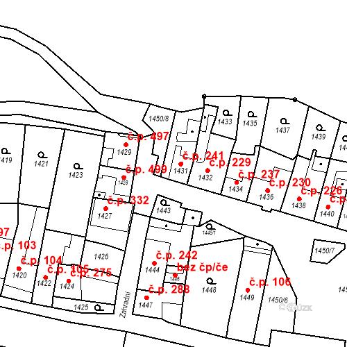 Katastrální mapa Stavební objekt Bučovice 241, Bučovice