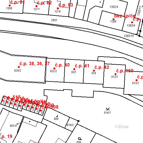 Katastrální mapa Stavební objekt Bučovice 41, Bučovice