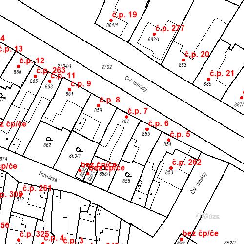 Katastrální mapa Stavební objekt Bučovice 7, Bučovice