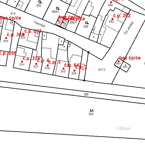 Katastrální mapa Stavební objekt Bučovice 2, Bučovice
