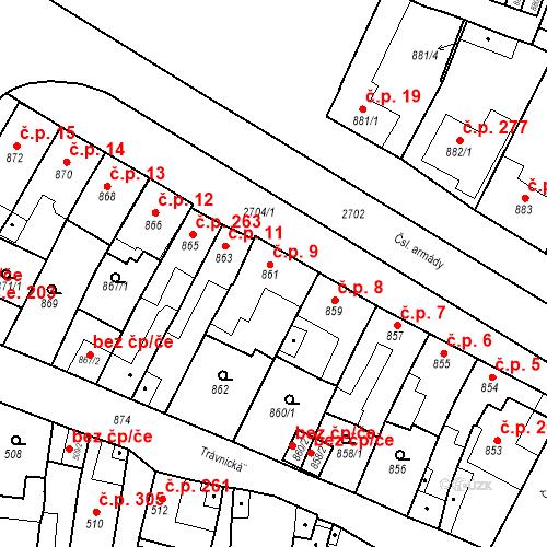 Katastrální mapa Stavební objekt Bučovice 9, Bučovice