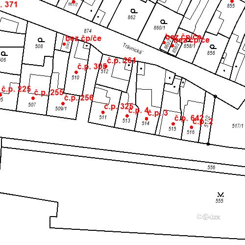 Katastrální mapa Stavební objekt Bučovice 4, Bučovice