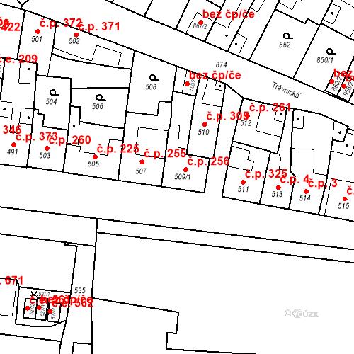Katastrální mapa Stavební objekt Bučovice 256, Bučovice