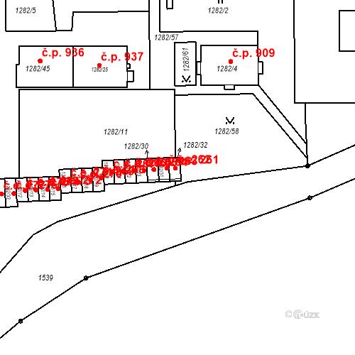 Katastrální mapa Stavební objekt Bučovice 261, Bučovice