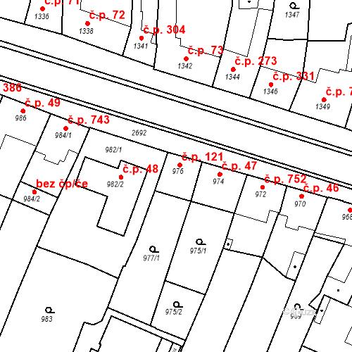 Katastrální mapa Stavební objekt Bučovice 47, Bučovice