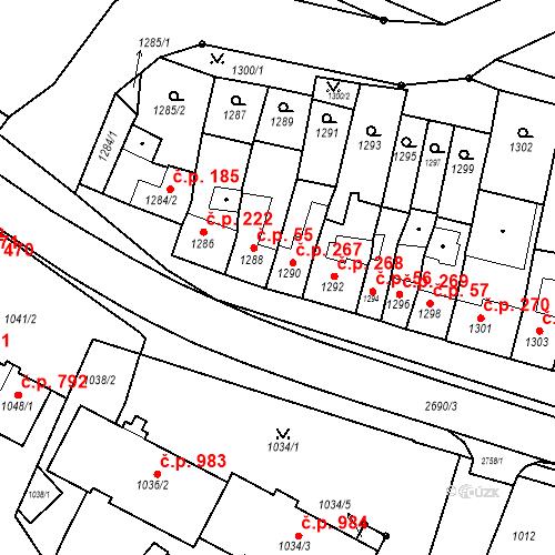 Katastrální mapa Stavební objekt Bučovice 267, Bučovice
