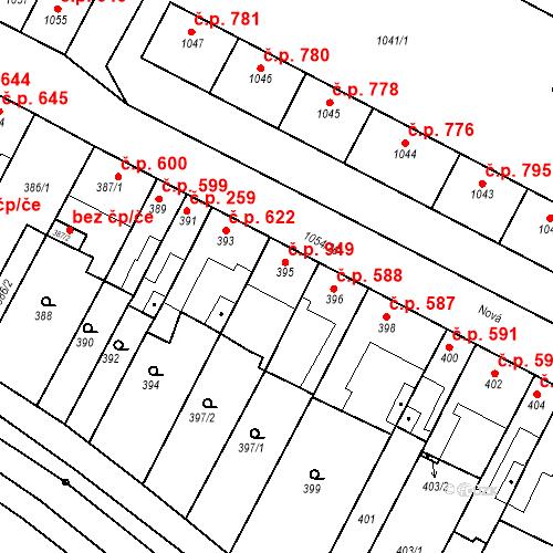 Katastrální mapa Stavební objekt Bučovice 949, Bučovice