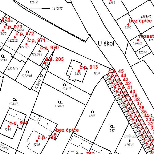 Katastrální mapa Stavební objekt Bučovice 913, Bučovice