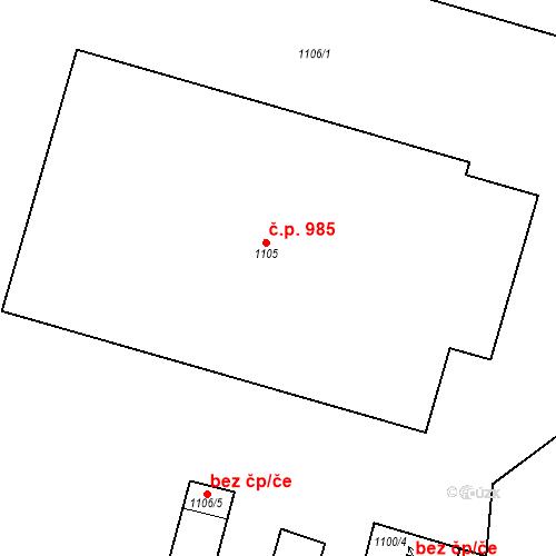 Katastrální mapa Stavební objekt Bučovice 27