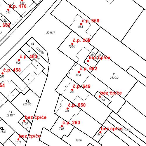 Katastrální mapa Stavební objekt Tvrdonice 662, Tvrdonice
