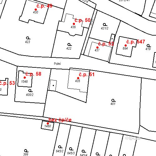 Katastrální mapa Stavební objekt Králíky 51, Králíky