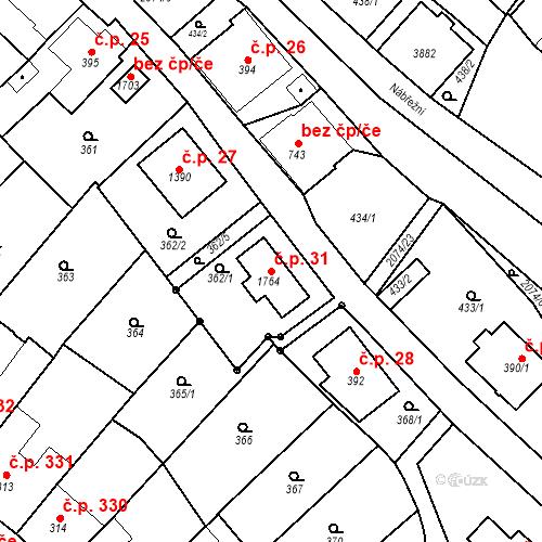 Katastrální mapa Stavební objekt Králíky 31, Králíky