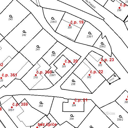 Katastrální mapa Stavební objekt Králíky 20, Králíky