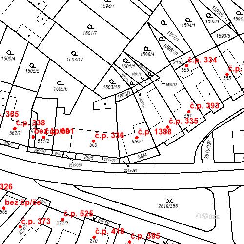 Katastrální mapa Stavební objekt Lanžhot 1388, Lanžhot