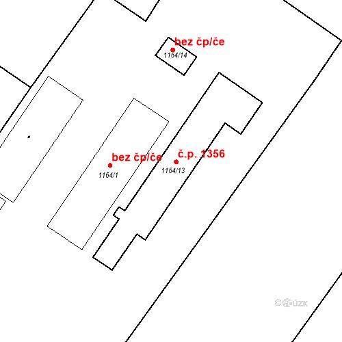 Katastrální mapa Stavební objekt Velké Bílovice 1356, Velké Bílovice