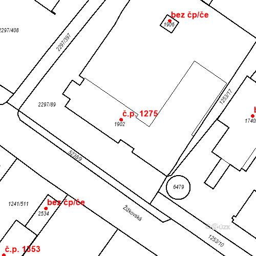 Katastrální mapa Stavební objekt Velké Bílovice 1275, Velké Bílovice