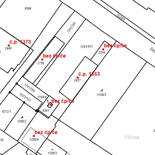 Katastrální mapa Stavební objekt Velké Bílovice 1353, Velké Bílovice