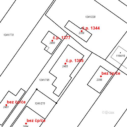 Katastrální mapa Stavební objekt Velké Bílovice 1365, Velké Bílovice