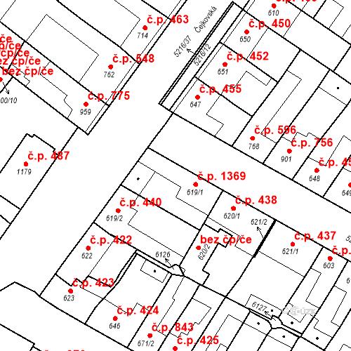 Katastrální mapa Stavební objekt Velké Bílovice 1369, Velké Bílovice
