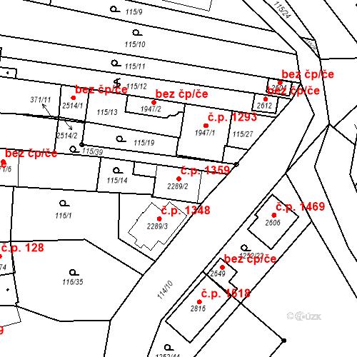 Katastrální mapa Stavební objekt Velké Bílovice 1359, Velké Bílovice