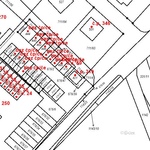 Katastrální mapa Stavební objekt Lipovec 319, Lipovec