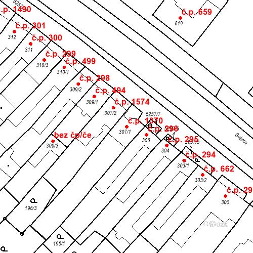 Katastrální mapa Stavební objekt Velké Bílovice 1370, Velké Bílovice