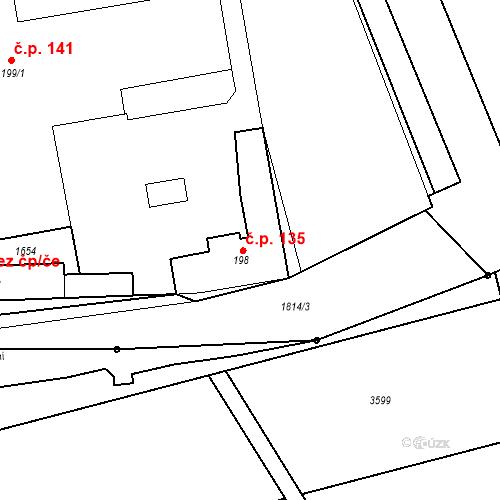 Katastrální mapa Stavební objekt Chornice 135, Chornice