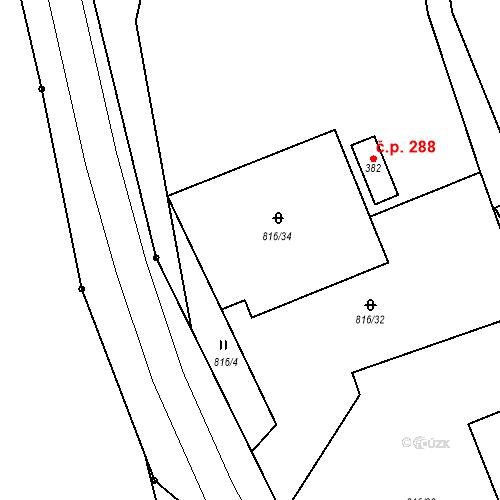 Katastrální mapa Stavební objekt Lipovec 298, Lipovec