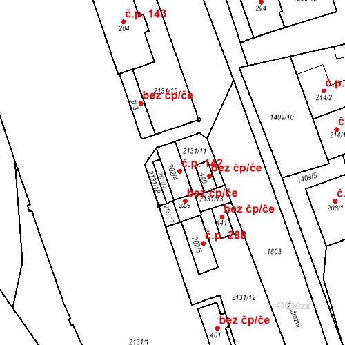 Katastrální mapa Stavební objekt Chornice 142, Chornice