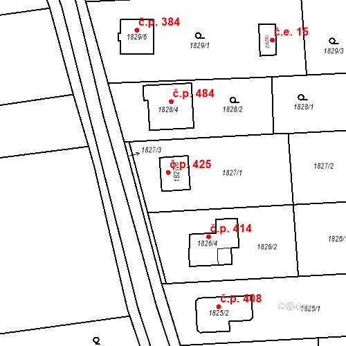 Katastrální mapa Stavební objekt Viničné Šumice 425, Viničné Šumice
