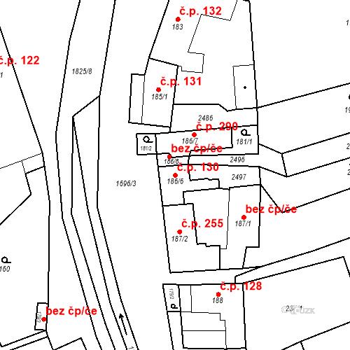 Katastrální mapa Stavební objekt Chornice 130, Chornice