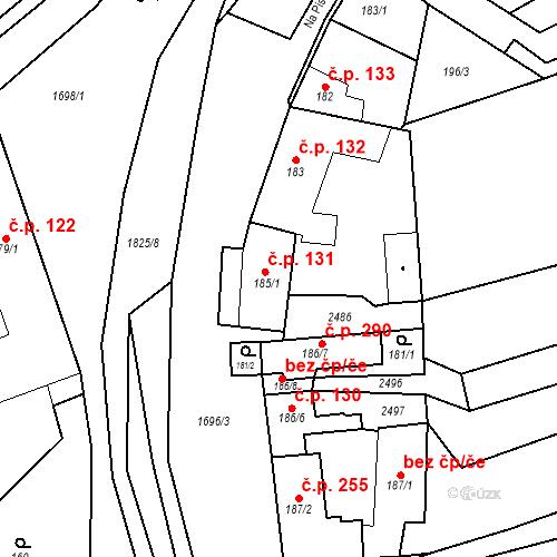 Katastrální mapa Stavební objekt Chornice 131, Chornice