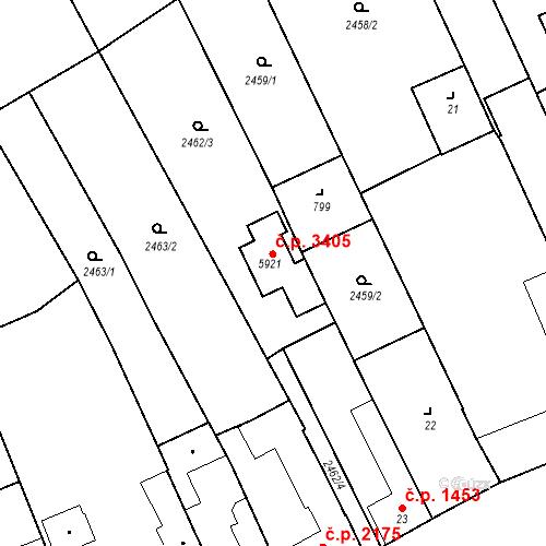 Katastrální mapa Stavební objekt Břeclav 3405, Břeclav