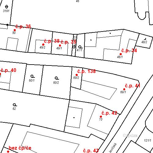 Katastrální mapa Stavební objekt Chornice 138, Chornice