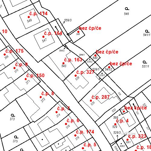 Katastrální mapa Stavební objekt Bošovice 327, Bošovice