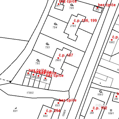 Katastrální mapa Stavební objekt Chornice 137, Chornice
