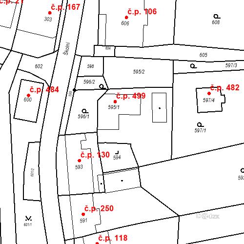 Katastrální mapa Stavební objekt Bošovice 107, Bošovice